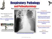 IVMS- Respiratory  Pathology and Pathophysiology