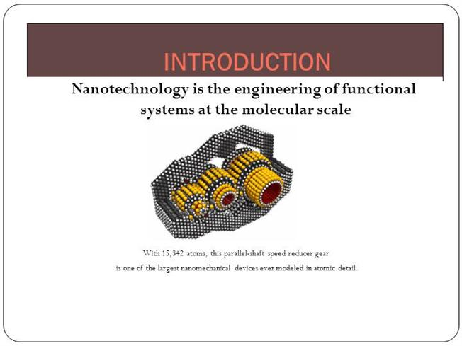 nanotechnology |authorstream, Presentation templates