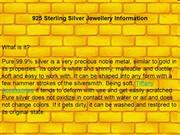 925 Sterling Silver Jewellery Information