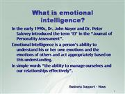 Emotional Inteligence
