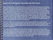 Spirit Cube , A Full Service Tribute Site, Eyes 2012 Launch