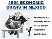 1994 MEXICO CRISIS