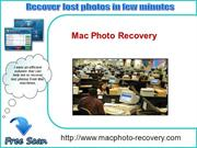 Mac Photo Recovery Software- The Best Mac Photo Recovery tool