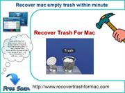 Recover Trash for mac