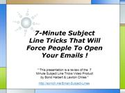 7-Minute Subject Line Tricks That Will Force People To Open Your Email