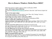 How to Remove Windows Media Player DRM