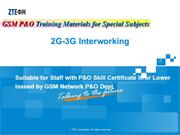 GSM P&O Training Material for Special Subject-2-3G Interworking V1.0