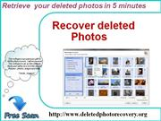 Easily recover your deleted photos and image.