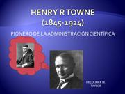 HENRY R TOWNE