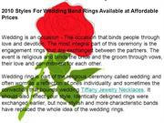 2010 Styles For Wedding Band Rings Available at Affordable Prices