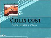 Violin Cost - Tips on Investing in a Violin