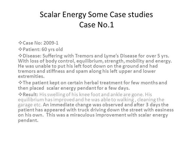 Scalar energy its miraculous effects some case studies authorstream mozeypictures Gallery