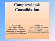 compression and consolidation ppt
