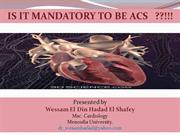 is it mandatory to be ACS wessam hadad