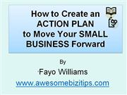HOW TO CREATE AN ACTION PLAN by Fayo Williams