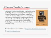 31 Provoking Thoughts For Leaders