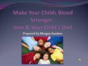 Make Your Childs Blood Stronger -