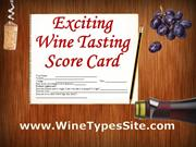 Exciting Wine Tasting Score Card