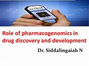 Role of pharmacogenomics in ppt