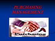PURCHASING MANAGEMENT PPT