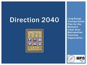 Direction 2040 LRTP Final Presentation