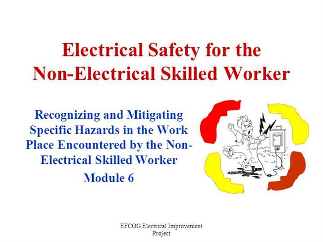 Electrical hazards and their safety.