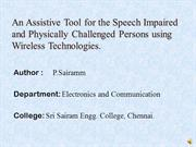 An Assistive Tool for the Speech Impaired and Physically Challenged