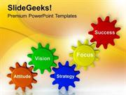 TEAMWORK TEAM VISION GIVES SUCCESS IN BUSINESS PPT TEMPLATE