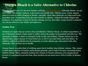 Oxygen Bleach is a Safer Alternative to Chlorine