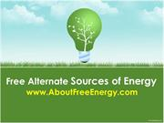 Free Alternate Sources of Energy
