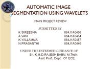 AUTOMATIC IMAGE SEGMENTATION USING WAVELETS