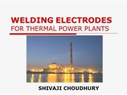 WELDING ELECTRODE FOR THERMAL POWER PLANTS