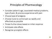 Pain Syndromes and Chronic Pain Management dictated slides 19-52