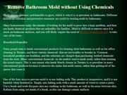 Remove Bathroom Mold without Using Chemicals
