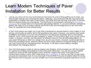 Learn Modern Techniques of Paver Installation for Better Results