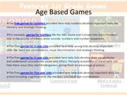 Age Based Games