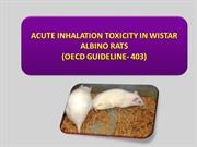 acute inhalation toxicity
