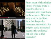 techniques used in thrillers