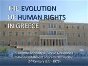 The Evolution of Human Rights in Greece