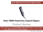 Oster 78004 Powermax 2-Speed Animal Clipper