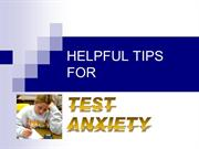 Helpful Tips For Test Anxiety