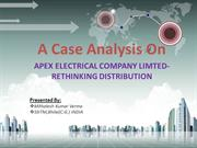 APEX ELECTRICAL COMPANY LIMTED-RETHINKING DISTRIBUTION Case Analysis