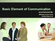 Element of Communication