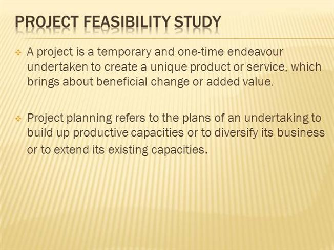 Feasibility study report ppt