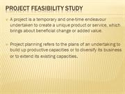 Project Feasibility Study[1]