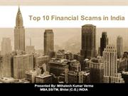 Top 10 Financial Scams in India