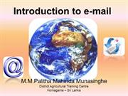 Introduction to e-mail