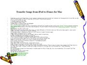 Transfer Songs from iPod to iTunes for Mac