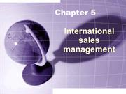 5. international sales management