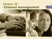 20. channel management